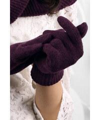 Fialové dámske rukavice na zimu Kamea 01 f3586583cb