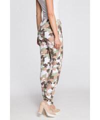 ff5b5d8d784 Bílo-béžové teplákové kalhoty MOE 239