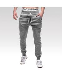 6465143c4c79 Ombre Clothing Pánské stylové tepláky Special šedé