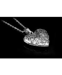Náhrdelník otevírací srdce - Chirurgická ocel 1a79e90e144