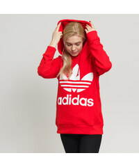adidas Originals Trefoil Hoodie červená 3ef4443b4b