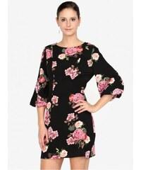 AX Paris černé květované šaty s 3 4 rukávem L 8229c0a0c2