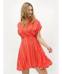 c4fd7bf65d5 Vero Moda červené pruhované šaty s překládaným výstřihem Laura XL