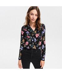 eebbf675c30 Reserved - Košile s květinovým vzorem - Černý