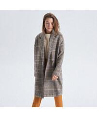 Cropp - Kockovaný kabát - Béžová b9588b9b422