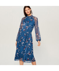 ccb09d2eeb67 Mohito - Šifónové kvetované šaty - Modrá
