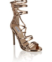 c8f1193af542 Šněrovací dámské sandály na podpatku