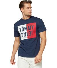 375d2880e65 Tommy Hilfiger Pánské tričko TOMMY JEANS printed - navy