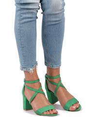 6445137a2b Belle Women Zelené sandále Ricky