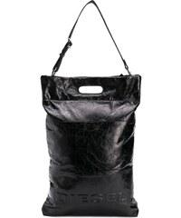 Diesel logo shopper tote - Black b2f23093441