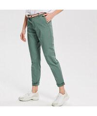 907b522fc44 Reserved - Kalhoty chino s páskem - Zelená