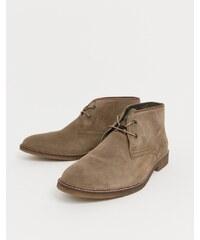 Barbour Kalahari suede mid desert boots in stone - Stone 4ff8821796c