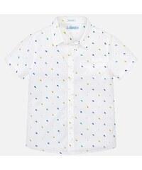 a5c70158d245 MAYORAL chlapčenská košeľa s krátkym rukávom 3131-063 White