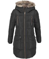 Dámský černý prošívaný kabát bd8f9cfd6c4