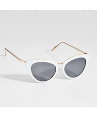 Mohito - Mačacie slnečné okuliare - Biela 3711e336e63
