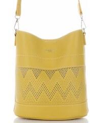 Dámské kabelky listonošky s kosmetikou David Jones ažurová Žlutá d2fdc528f6c