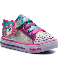 Sportcipő SKECHERS - Party Fets 10772N SLHP Silver Hot Pink 6bb33745be