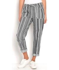 Pruhované dámské kalhoty  bfe1e556c4
