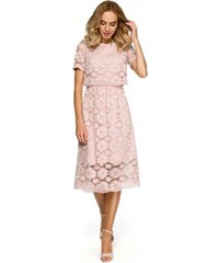 Moe Dámské společenské šaty Moe 125345 růžové - růžová 5fd55ac5f18
