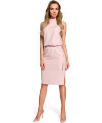 Moe Dámské společenské šaty Moe 127553 růžové - růžová 5568c9ebc3