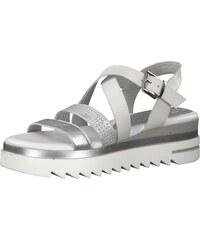 742db6c1110d MARCO TOZZI Sandály stříbrná   bílá