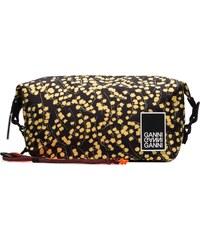 Ganni black and yellow Azalea floral print pouch 045663a310