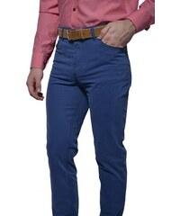 Alain Delon Modré voľnočasové nohavice 10d2f3a2335