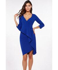 7961c49d50f4 City Goddess Modré šaty s volánom