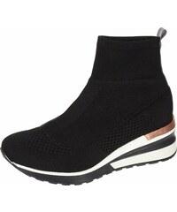 792a9d93b97a OLIVIA SHOES Čierne členkové ponožkové tenisky na podošve Angel DKO2046