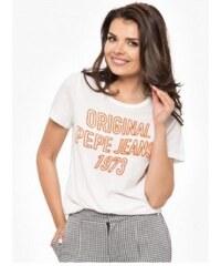 Bílé dámské triko Pepe Jeans ELECTRA 17719b2fd6