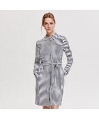 edf060507019 Reserved - Košilové šaty z viskózy - Vícebarevn