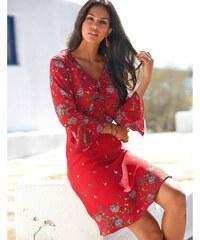 928072ea2e7 Blancheporte Šaty s volánem a potiskem červená