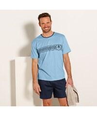 5247e550337 Blancheporte Bavlnené pyžamo so šortkami modrá nám.modrá