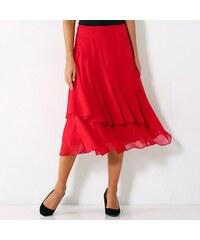 522fcc916efe Blancheporte Volánová jednobarevná sukně červená