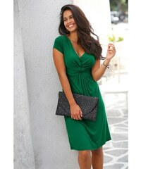 47e406974a0 Blancheporte Splývavé úpletové šaty zelená