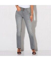 Blancheporte Strečové bootcut džíny v opraném vzhledu šedá 6c1cd9dc1c