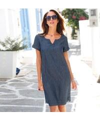 ca3bcad1d58 Blancheporte Džínové šaty s krátkými rukávy modrá