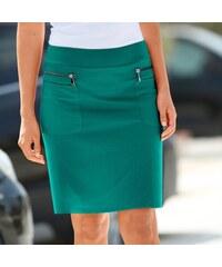 bb9a5586099 Blancheporte Sukně se zipy zelená