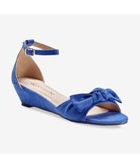 eea61381d59f Blancheporte Sandále na kline s mašľou modrá