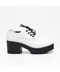 Cropp - Lakované topánky - Biela c9868df8f83