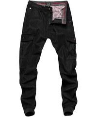 0e470f15ac9f OZONEE XZX-STAR 8736 Pánske nohavice Čierne