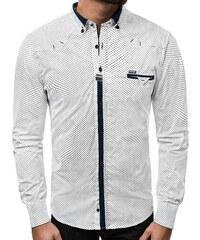 OZONEE ZAZ 1326 Pánská Košile Bílá 8b50da9940