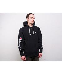 Mikina Champion Hooded Half Zip Sweatshirt Brushed Fleece Black 1f8887da99