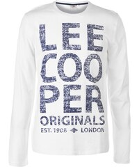 34f867622182 Pánské triko Lee Cooper New Logo Bílé
