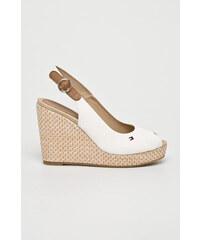 2f884bb0bf7a Tommy Hilfiger dámske štýlové sandále na klinovej podrážke - biele ...