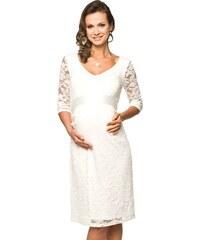 TORELLE Těhotenské luxusní krajkové šaty Lace dlouhý rukáv 534a9cb35bb