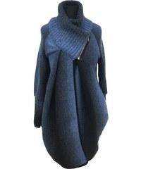 Móda Taleti Těhotenský kabátek Reni modrý e3b7bc51fb
