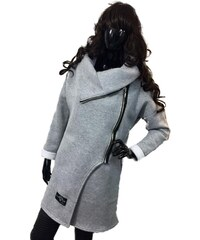 Móda Taleti Těhotenský kabátek Dolce šedý e65a1acb71