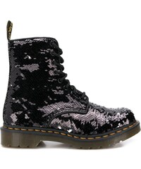 Dr. Martens sequined military boots - Black ef98ccb2ba