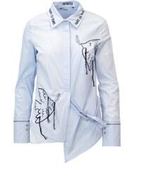 32ece98784de Svetlomodrá dámska rifľová košeľa s volánmi s.Oliver - Glami.sk